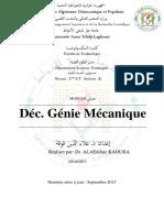 Polycopie Déc G Mécanique +Questions