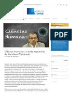 Ciências Humanas_ o bode expiatório de Abraham Weintraub