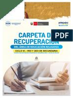 CARPETA DE RECUPERACION VI CICLO