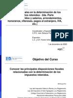 Material - 29. ASPECTOS FISCALES EN LA DETERMINACION DE LOS IMPUESTOS RETENIDOS - 2a PARTE (1)