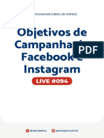 Live 094 - Objetivos de campanha do Facebook e Instagram