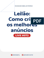 Live 072 - Leilão, como criar os melhores anúncios