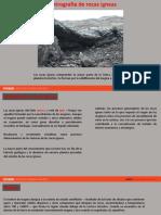 U 2.1 P Petrografía de rocas ígneas