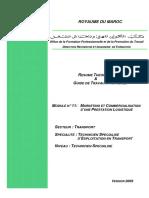 M11 Marketing Et Commercialisation d Une Prestation Logistiquee TR TSETR