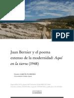 """Juan Bernier y el poema extenso de la modernidad """"Aquí en la tierra"""" (1948)[GARCÍA FLORINDO│UC,2016]"""