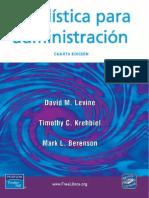 Estadistica Para Administracion 4ta Edicion David M Levine