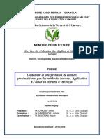 Traitement Et Interpretation de Donnees Gravimetriques Par Des Methodes Inverses Application a l Etude Du Terraine d in Ouzzal