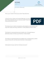 Evolution  Worksheet - Business Accelerator