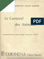 spartiti musicali - musica classica - il carnevale degli animali (per piano a quattro mani)