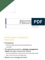 Balanced Scorecard & IT Balanced Scorecard