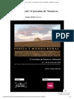 _Poesía y mundo_. IV Jornadas de _Poesía en Valladolid_ - Valladolid en su tinta