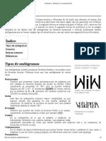 Ambigrama - Wikipedia, la enciclopedia libre