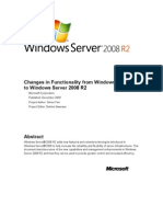 Changes in Functionality in Windows Server 2008 R2
