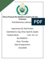 fluid friction (AHMAD OLIMAT)
