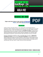 AQUECIMENTO INVESTIDOR DO FUTURO AULA 02 - REGRAS DO JOGO