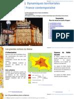 3e Theme 1 COURS Dynamiques Territoriales de La France Contemporaine 38 p