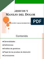 ANALGESICOS Y MANEJO DEL DOLOR