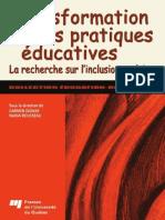 Transformation des pratiques éducatives (La recherche sur l΄inclusion scolaire)