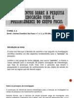 PPT Apontamentos sobre a pesquisa em educação - grupo focal