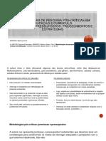 PPT Metodologias de pesquisa pós-criticas em educação e currículo