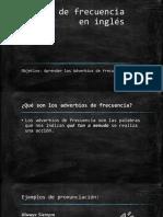 01.Adverbios de Frecuencia en Inglés