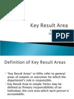 Key result area
