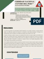 Impacto de La Pandemia en El Empleo - Distritos de Junin
