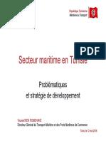 m. Ben Romdhane - Secteur Maritime en Tunisie