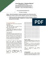 GUIA TALLER DE MATEMATICAS MULTIPLICACION