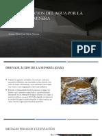 CONTAMINACION del agua por la actividad minera