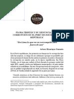 AOMG - FLORA TRISTÁN Y SU DENUNCIA DE LA CORRUPCIÓN EN EL PERÚ DE INICIOS DE LA REPÚBLICA