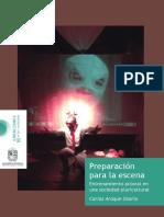 Preparación para la escena - Libro cerrado - Carlos Araque Osorio