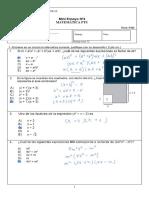 Pauta Mini Ensayo Nº4 ( Algebra  )PTU 4°A