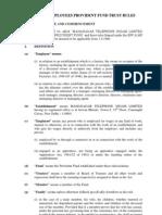 MTNL PF Trust Rules