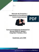 Plan de aprendizaje Módulo I Integridad, Probidad y Ética NEW2020