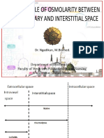 Basic Principle of Osmolarity Between Intra Capillary and Interstitial Space (2021)