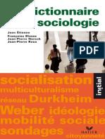 Dictionnaire de Sociologie _ Les Notions, Les Mécanismes, Les Auteurs