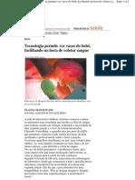 Matéria da Folha de São Paulo sobre o venoscopio