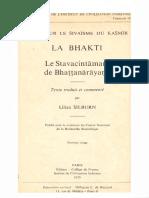 Silburn Lilian La Bhakti 166p