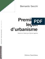 Premier leçon d'urbanisme