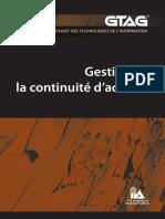 GTAG 10 - Gestion de la continuité d%u2019activité