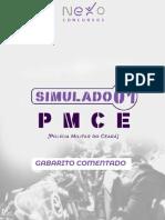 Gab Comentado - SIMULADO 01 - PMCE - Nexo Concursos
