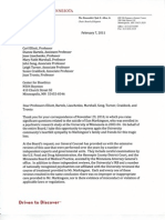 Letter From Regents to Bioethics