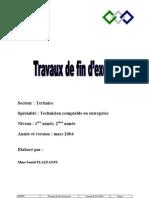 TRAVAUX DE FIN D'EXERCICE