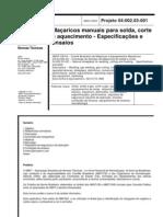 NBR Maçaricos manuais para solda, corte