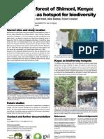 Coastal Forest of Shimoni - Sacred Sites as Biodiversity Hotspot (Poster)