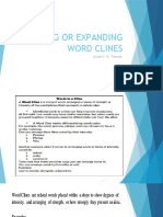 Expanding word clines