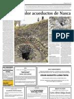 Ponen en Valor Acueductos de Nasca