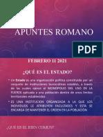 APUNTES ROMANO