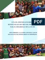 Guía de Aprendizaje Sobre Los Beneficios Que Reciben Del Programa Para El Desarrollo de La Muje 3